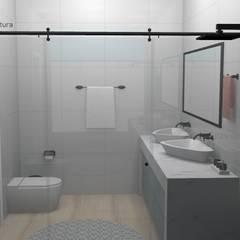 Vista do Box: Banheiros  por YasminK Arquitetura