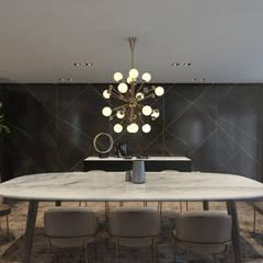 :  غرفة السفرة تنفيذ ICONIC DESIGN STUDIO