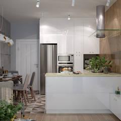 Дизайн кухни в 2-х комнатной квартире по ул. Дальняя, г.Краснодар: Лестницы в . Автор – Студия интерьерного дизайна happy.design, Модерн
