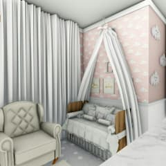 Cuartos para niñas de estilo  por Fuenttes Knupp Arquitetura e Design