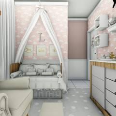 غرفة نوم بنات تنفيذ Fuenttes Knupp Arquitetura e Design