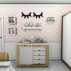 Dormitorios de niñas de estilo  por Fuenttes Knupp Arquitetura e Design