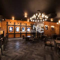 전주인테리어-전주상업공간인테리어 너바나 와인카페: 내츄럴디자인컴퍼니의  바 & 카페