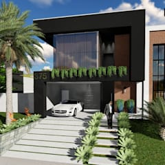 Single family home by Fuenttes Knupp Arquitetura e Design
