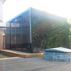 : Casas pequeñas de estilo  por Mini casas,Minimalista Vidrio