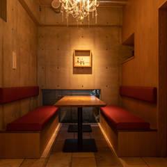 Restaurantes de estilo  por 東京デザインパーティー|照明デザイン 特注照明器具