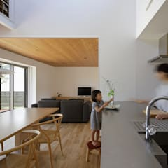 Built-in kitchens by 柳瀬真澄建築設計工房 Masumi Yanase Architect Office