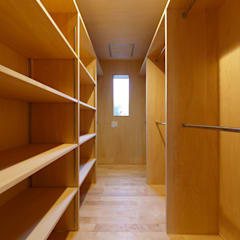 Dressing room by タイラヤスヒロ建築設計事務所/yasuhiro taira architects & associates, Scandinavian Wood Wood effect