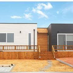 집의 본질을 생각한 미니멀리즘 전원주택: 공간제작소(주)의  주택,미니멀