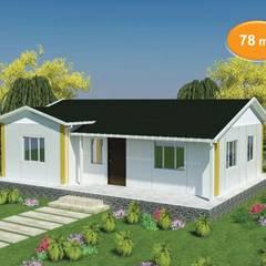 Casas prefabricadas de estilo  por EMİN PREFABRİK DOĞU