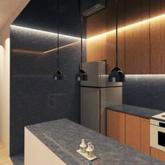 OCA/Mimarlık – E Evi :  tarz Küçük Mutfak