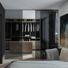 M3_01 PROJEKT MIESZKANIA W ŁODZI: styl , w kategorii Garderoba zaprojektowany przez am.home