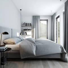 M3_02 PROJEKT MIESZKANIA W WARSZAWIE: styl , w kategorii Sypialnia zaprojektowany przez am.home