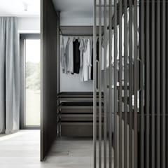 M3_02 PROJEKT MIESZKANIA W WARSZAWIE: styl , w kategorii Garderoba zaprojektowany przez am.home