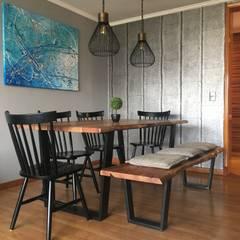 Diseño Interior Industrial Las Condes: Comedores de estilo  por MM Design