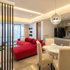 Botanika Nature Residences / Filinvest Group:  Living room by TG Designing Corner