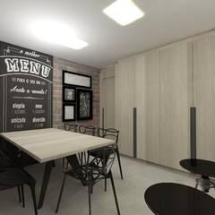 Cozinha rock´'n roll: Armários e bancadas de cozinha  por CG arquitetura e interiores,Minimalista OSB