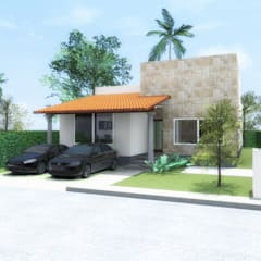 Casa Vergeles Oaxtepec, Mor.: Casas de campo de estilo  por AV Arquitecto