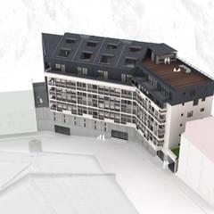 Edificio Residencial Francia: Viviendas colectivas de estilo  por Materia prima arquitectos