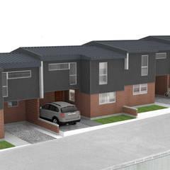 Condominio Gran Sol: Condominios de estilo  por Materia prima arquitectos