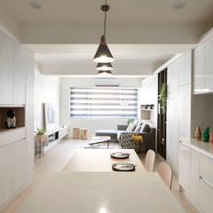 غرفة السفرة تنفيذ 耀昀創意設計有限公司/Alfonso Ideas, إسكندينافي