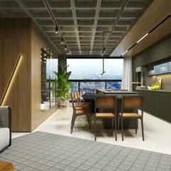 Living: Armários e bancadas de cozinha  por Maicon Ramos arquitetura,Minimalista MDF