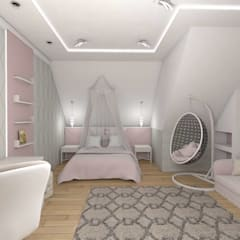 Kamar tidur anak perempuan by студия дизайна Ольги ковалевой