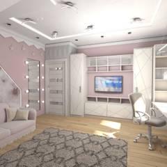 Dormitorios de niñas de estilo  por студия дизайна Ольги ковалевой