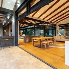 House Milne:  Patios by Hugo Hamity Architects