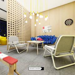 REST ROOM W BUDYNKU BIUROWYM: styl , w kategorii Przestrzenie biurowe i magazynowe zaprojektowany przez LESINSKA CONCEPT