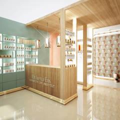 SKLEP KOSMETYCZNY: styl , w kategorii Powierzchnie handlowe zaprojektowany przez LESINSKA CONCEPT