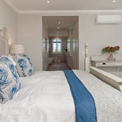 New Build House on Hermanus Golf Course:  Bedroom by Overberg Interiors, Classic