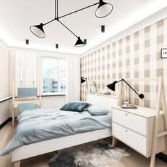 APARTAMENT W KRATKĘ: styl , w kategorii Sypialnia zaprojektowany przez LESINSKA CONCEPT