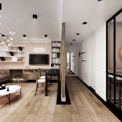 APARTAMENT TRANSATLANTYK: styl , w kategorii Salon zaprojektowany przez LESINSKA CONCEPT