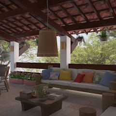 Balcony by 5CINQUE ARQUITETURA LTDA, Country