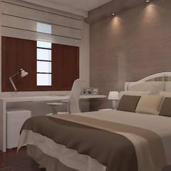 Dormitorios de estilo  por 5CINQUE ARQUITETURA LTDA , Rural