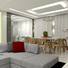Casa Costa Laguna: Salas de jantar  por Multiplanos Arquitetura