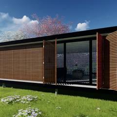 Casa de Campo: Casas pequenas  por WA Projeto + Sustentável