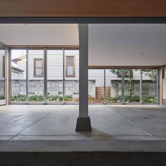 HIYOSHI-K オリジナルデザインの 書斎 の 建築設計事務所 可児公一植美雪/KANIUE ARCHITECTS オリジナル コンクリート