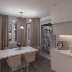 квартира по ул.Джамбула 27: Встроенные кухни в . Автор – TiM interior design