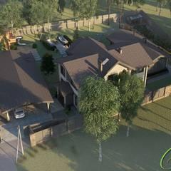 Загородный дом в стиле прованс: Дома в . Автор – Компания архитекторов Латышевых 'Мечты сбываются'