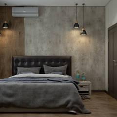Dormitorios de estilo  por Дизайн студия Марии Зерщиковой, Industrial