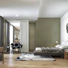 Onur Eroğuz Mimarlık Hizmetleri – Single Family House - Interior Design:  tarz Yatak Odası