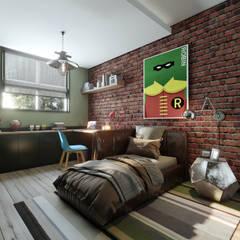 Onur Eroğuz Mimarlık Hizmetleri – Single Family House - Interior Design:  tarz Çocuk Odası
