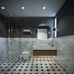 Onur Eroğuz Mimarlık Hizmetleri – Single Family House - Interior Design:  tarz Banyo