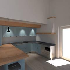 Cucina Country a Borgo Valsugana (TN): Cucina in stile  di G&S INTERIOR DESIGN