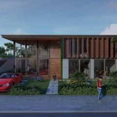 Residencia Cancela da Mata: Jardins de fachadas de casas  por Architet Studio