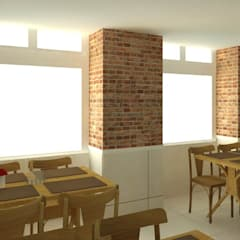 Projeto Comercial - Saborami Self Service: Espaços gastronômicos  por Wendely Barbosa - Designer de Interiores