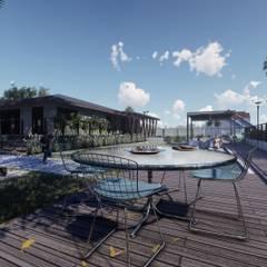 Landscape Redesign: Piscinas de jardim  por Architet Studio