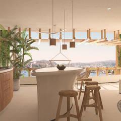 Kau Kan 1, Playa La Madera.: Salas de estilo  por Zozaya Arquitectos